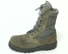 Military Mens Green Combat Boots Safety Steel Toe US 10 EU 43 Made in USA
