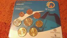 Grecia  2011 cartera. 8 valores (  con 2 euros toro)