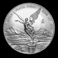 2018 1/4 oz Mexican Libertad .999 Fine Silver Coin from Mint Roll