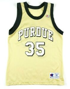 VTG 90s Champion Purdue Boilermakers Brian Cardinal Jersey Mens 40 M Gold