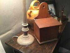 Lovely Old Antique Salt Box Pine Kitchenalia Treen Salt Box Candle Box