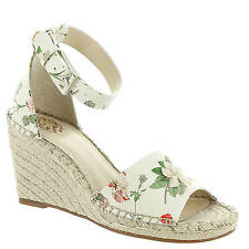 Vince Camuto Leera Floral Leather Ankle Strap Espadrille Wedge Sandals Size 8 M