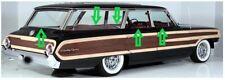 1964 FORD GALAXIE 500 COUNTRY SEDAN WAGON BELTLINE WINDOW WEATHERSTRIP KIT, 9 Pc