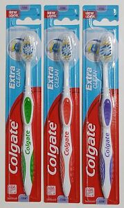 3 Colgate Toothbrush Extra Clean Full Head FIRM #95 Brushes HARD - NEW