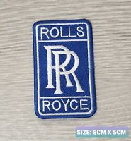 Rolls Royce Car Motor logo Badge Embroidered Iron On/Sew On Patch