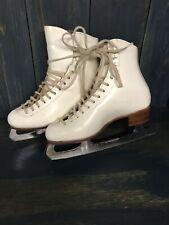 Riedell John W 00004000 ilson Ice Skates White Figure Skates Sheffield England Size M5