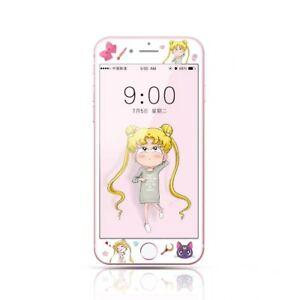 Kawaii Cartoon Print 3D Tempered Glass Film Screen Protector for iPhone 6 7 Plus