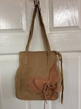 Coccinelle leather/suede small hand bag