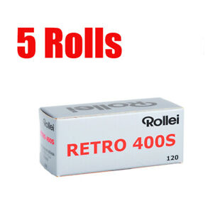 5 Rolls Rollei Retro400s 120 Middle Format  Black&White Film Fresh 11/2023