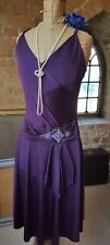 Next purple vintage 1920's flapper gatsby style beaded party dress 12