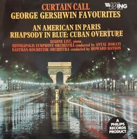 Curtain Call-George Gershwin Favourites Vinyl LP.1962 Wing WL 1206.Eugene List+