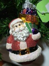 Celebrations by Radko 2011 Santa Claus Glass Christmas Ornament No Box