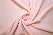 Light Pink #105 Bullet Double Knit Stretch Polyester Lycra Spandex Fabric BTY