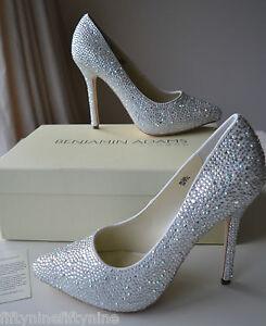 NEW BENJAMIN ADAMS SYLVIA CRYSTAL Shoes UK 5 / 38   BOX  £299