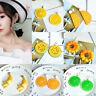 Fashion Charm Women Vegetable Fruit Acrylic Stud Earrings Pendant Dangle Jewelry