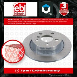 2x Brake Discs Pair Solid fits BMW X1 F48 Rear 1.5 2.0 2.0D 2014 on 280mm Set