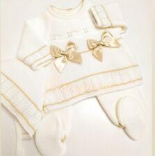 BNWT 3 piece Ivory/Beige knit set - Newborn size