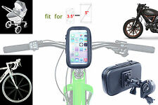Bike Bicycle Motorcycle Waterproof Phone Case W Handlebar Mount clamp iPhone 8 7