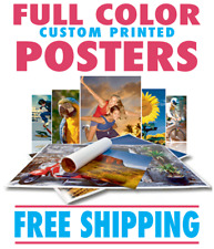 Full Color Custom Poster Print Heavy Poster Paper - FREE SHIPPING