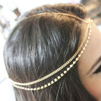 Metal Multilayer Boho Head Chain Headband Wedding Hairstyle Hair Accessories _ws