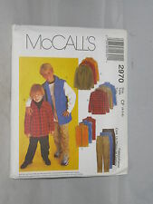 McCall's Pattern 2970 Children's Sewing
