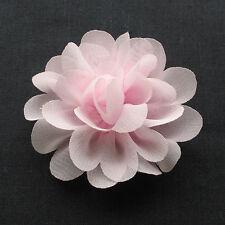 12PCS Large 5CM-5.5CM Organza Ribbon Bows Flowers Appliques Wedding A0416
