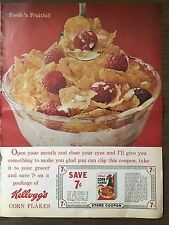 1964 7 cent coupon for Kellogg's Corn Flakes Vintage VTG Uncut Unused!