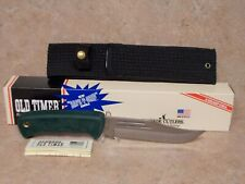 SCHRADE  OLD TIMER  # 1400T TRAIL BOSS HUNTING  KNIFE  SHEATH  USA   NIB