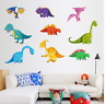 Kids Room Dinosaur Wall Sticker Cartoon Animal Decal Bedroom Art Vinyl Decor