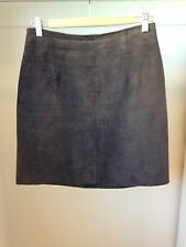 Lana Genuine Leather Suede Brown Skirt Size 10