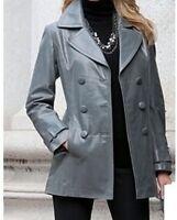 BN ladies women's winter100% leather blazer jacket coat plus size 1X 2X 3X 4X 5X