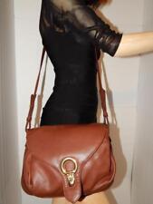 Brio Vtg Brown Leather Messenger Cross Body Purse Shoulder Bag