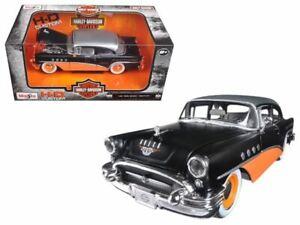 "1:26 1955 Buick Century ""Harley Davidson"" Black & Orange w/Silver Top -- Maisto"