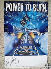 """POWERADE 24""""x36"""" ENDORSED 2005 NHRA DRAG RACING POSTER,LARRY DIXON,CORY MAC,NEW"""