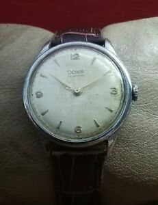 DOXA WWII 40's MILITARY cal.1147 VINTAGE 37.5mm RARE SWISS WATCH.