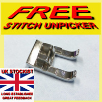 SEWING MACHINE WIDE METAL OPEN TOE FOOT BROTHER/JANOME 9mm  FREE UNPICKER sa/57