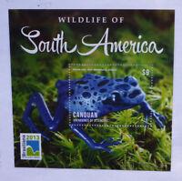 2013 St VINCENT & GRENADINES Sth AMERICA WILDLIFE FROG STAMP MINI SHEET