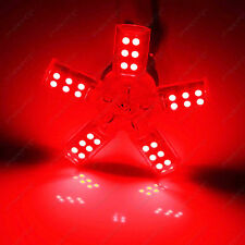 2Pcs 3157 P27/5W LED Red Spider 5-ARM 40SMD Car Brake Tail Signal Lamp Light