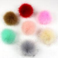 DIY 8cm Pom Pom Balls Faux Fox Fur Fluff Balls for Pom Pom Hat Accessories ###