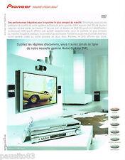 PUBLICITE ADVERTISING 065  2001  PIONEER   home cinéma VSX-C300-S