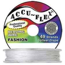 100' Accuflex Pearl 49 strand .019in Accu-flex Beading Wire White NEW!