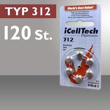 120 x iCellTech Pilas Audífono Pila de Botón Audífono Pila tipo 312 PR41 ZL3