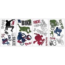 EXTREME SPORTS wall stickers 25 decals Bike BMX Skateboard  scrapbooking stickup