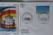 ENVELOPPE PREMIER JOUR SOIE 1992 EXPOSITION DE SEVILLE