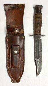 Original 1950s 1st Model USAF Pilot's Survival Knife, & Sheath