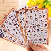 5Pcs Korean Kawaii girl sticker DIY Scrapbook Diary Notebook Ablums Decorative