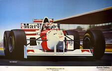 Limited Edition Ivan Berryman Nigel Mansell McLaren MP4/10B Signed LE Print