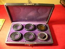 Vintage Chrome Plated BURKE & JAMES Filter Set for Folding Camera