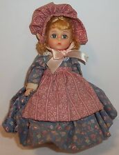 "Madame Alexander 8 inch doll ""Sulky Sue,"" No shoes, no tag, & no box, Blue gown"