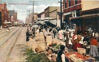 Chicago Illinois Ghetto Street  V.O Hammon Publishing C-1910 Postcard 1934